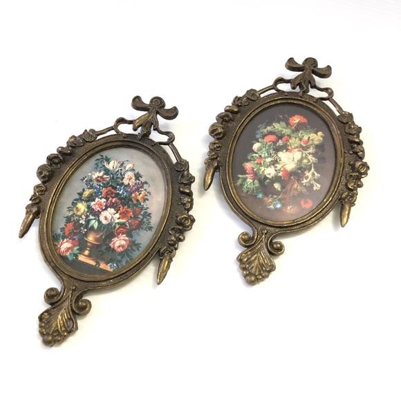 Italian Floral Frames Vintage Decor